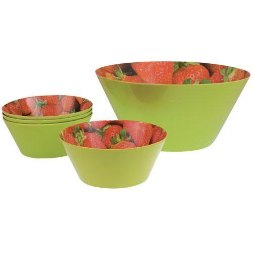 Melaminové misky jahody - decoDoma