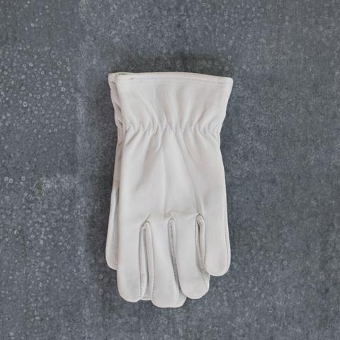 Gardening gloves, leather, short