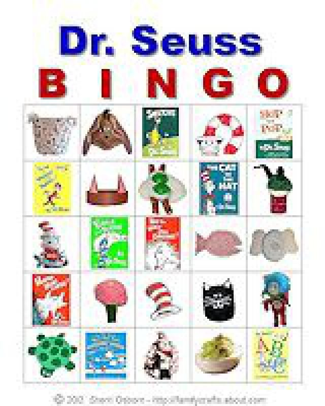 Tons of Free Printable Bingo Cards for Any Classroom or Get-Together: Dr. Seuss Bingo Game Cards