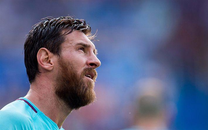 Download wallpapers 4k, Lionel Messi, blur, football stars, Barca, Messi, FC Barcelona, footballers, FCB, soccer, Leo Messi