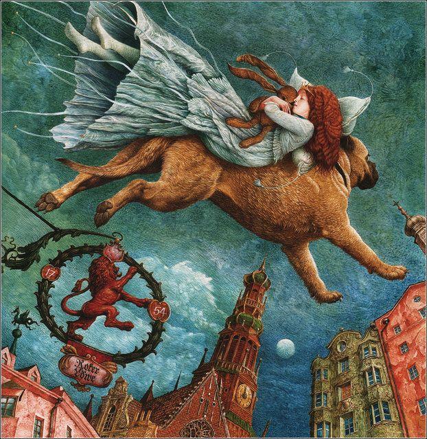 "Hans Christian Andersen, ""The Tinder-Box"" by Illustrator Vladislav Erko:"