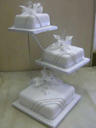 Display Stand Designs : Wedding tier cake stand gallery square tiered
