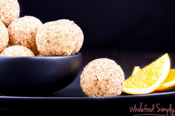 Orange Cake Bliss Balls (GF, nut, dairy, egg, & refined sugar free)