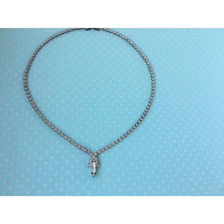 Teardrop Rhinestone Necklace
