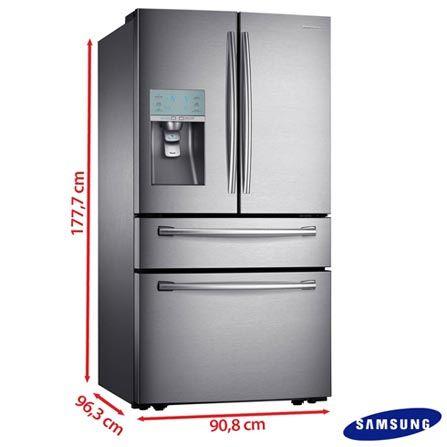 Refrigerador french door samsung 632 litros inox rf31fmesbsl medidas