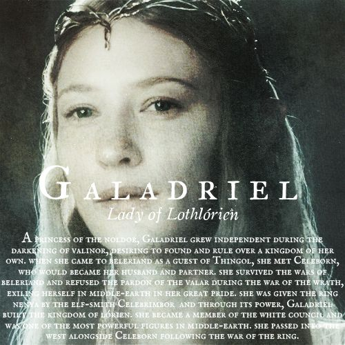 "Galadriel: ""I have passed the test. I will diminish, and go into the West, and remain Galadriel."""