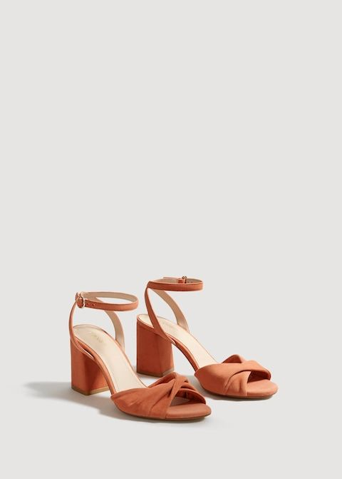 c5b2f9f22 Leather ankle-cuff sandals - Women in 2019