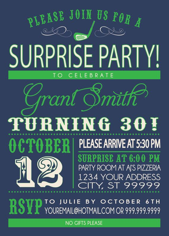 18 best adult birthday party kansas city images on pinterest adult surprise party invite adult birthday party golf party stopboris Choice Image