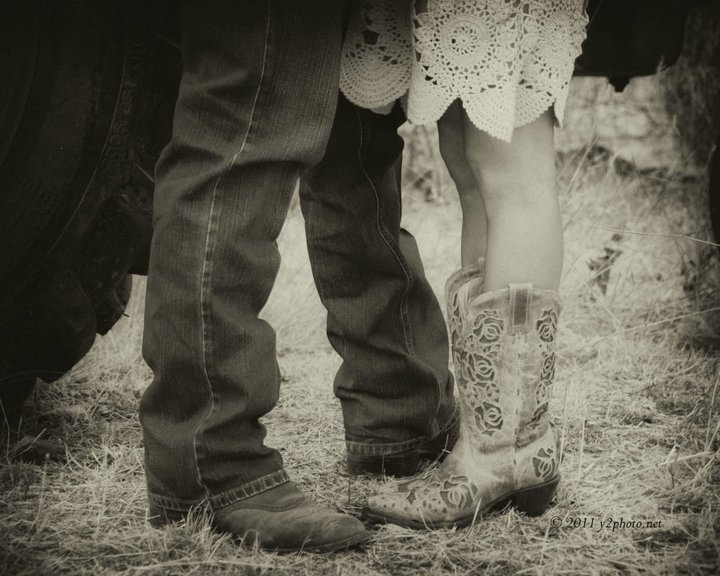 Bride and Groom's boots