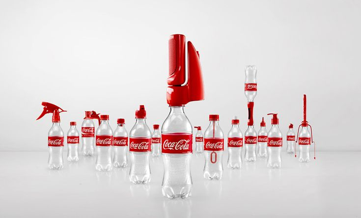 coca-cola campaign gives old bottles '2nd lives' with 16 functional caps