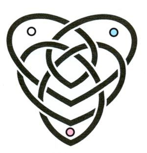 A motherhood celtic knot.  The dots symbolize each child. Always wanted one of these.