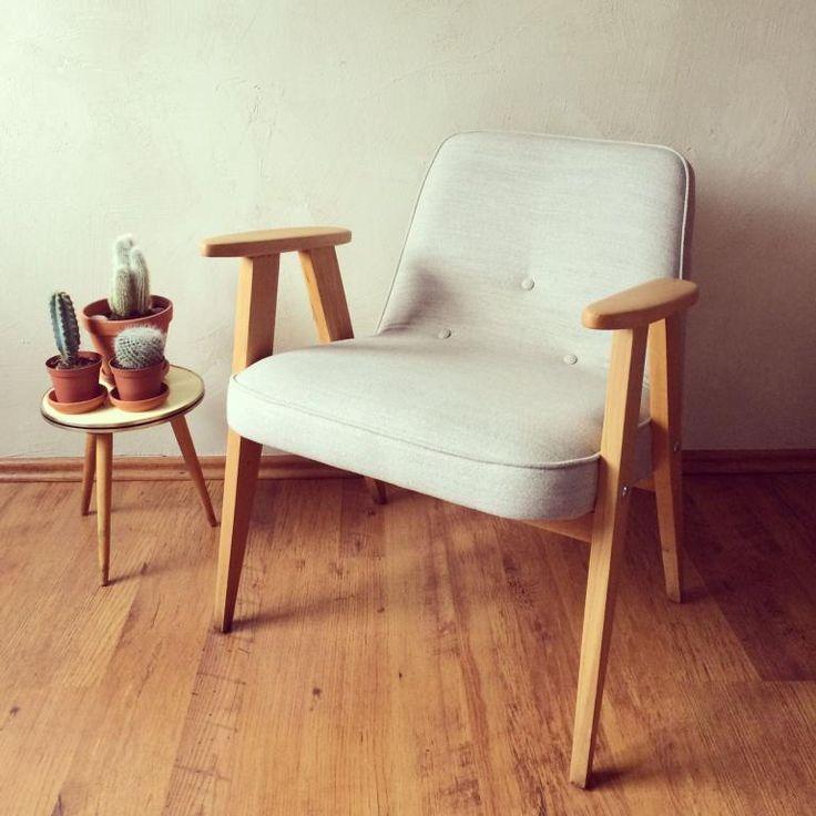 Fotel lata 60. PRL vintage modern Chierowski 366