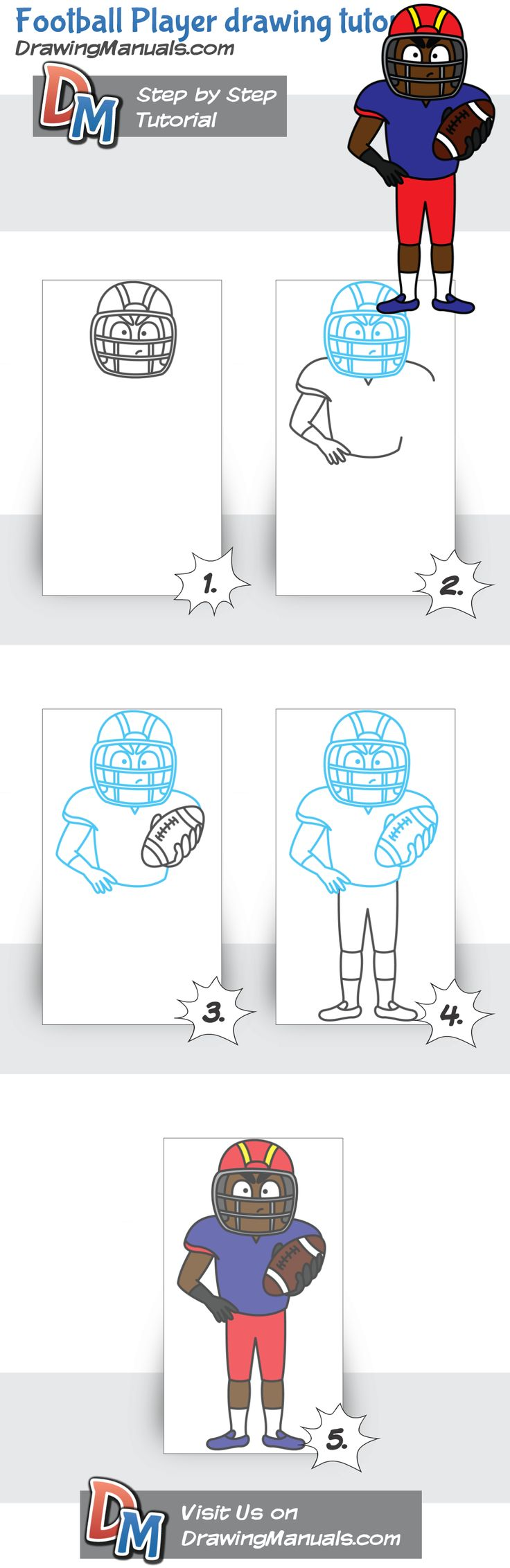 In the spirit of Super Bowl weekend... A drawing tutorial for a Football Player! http://drawingmanuals.com/manual/football-player-drawing-tutorial/