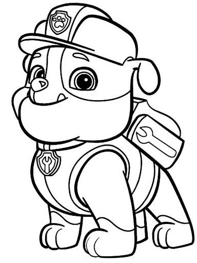 Small Paw Patrol Coloring Pages : Small  paw patrol pinterest