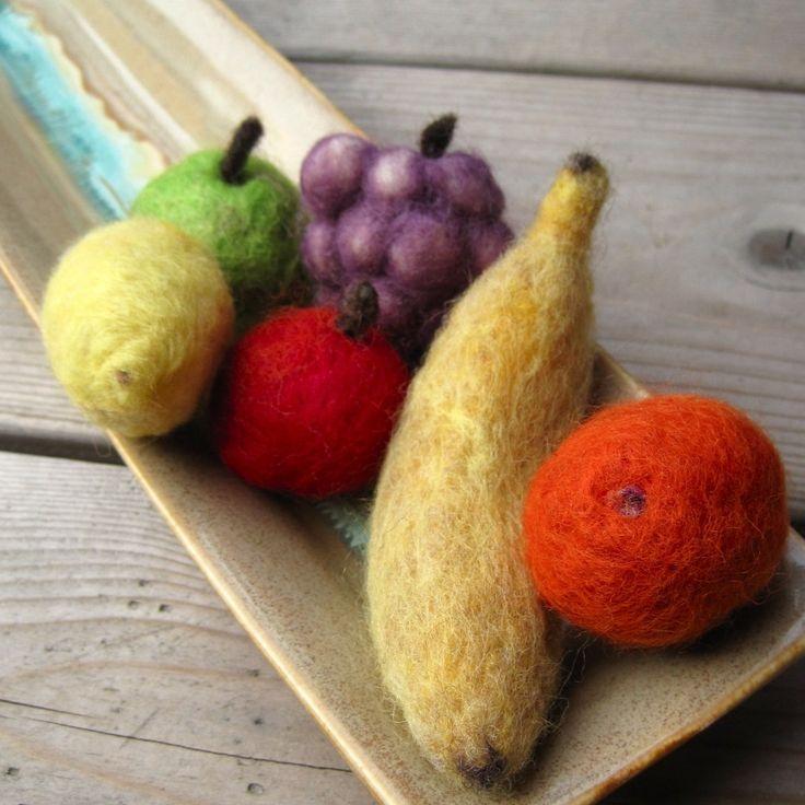 needle felted fruit
