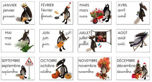 """12 photomontages, un pour chaque mois de l'année, réalisé avec la peluche du célèbre loup d'Eleonore Thuillet. (""""le loup qui voulait changer de couleur"""")"""