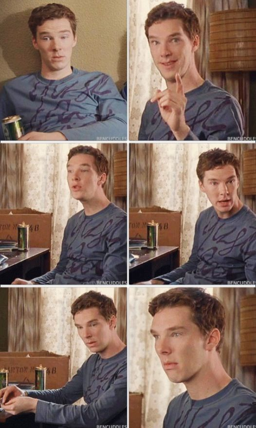 (gif set) This man just can't help but be adorable!