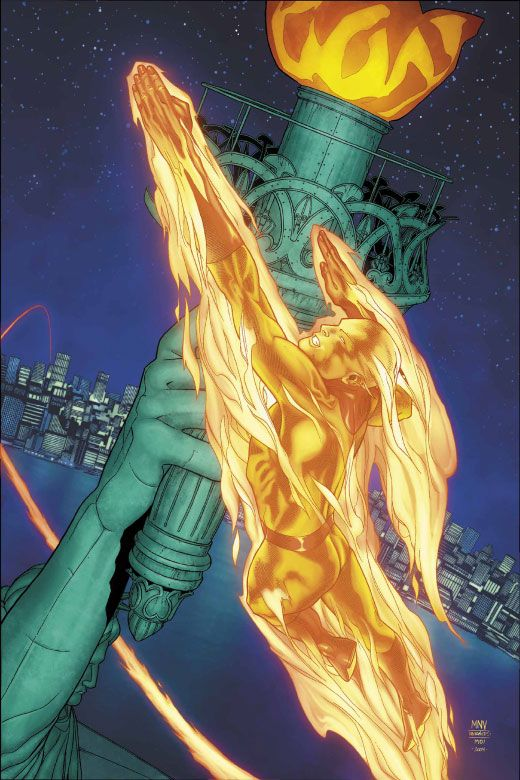 Human Torch and the Statue of Liberty