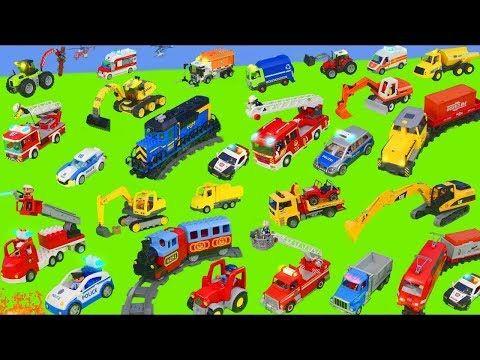 Traktor Vinc Ekskavator Ve Yeni Arabalar Is Makineleri Excavator Tractor Fire Truck Youtube Itfaiye Arabasi Traktor Arabalar