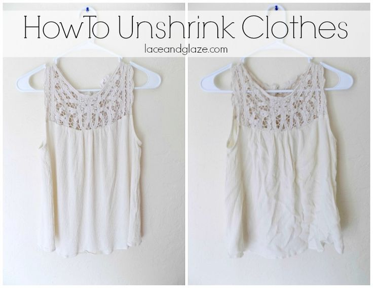 How To Unshrink Clothes #unshrink #howto