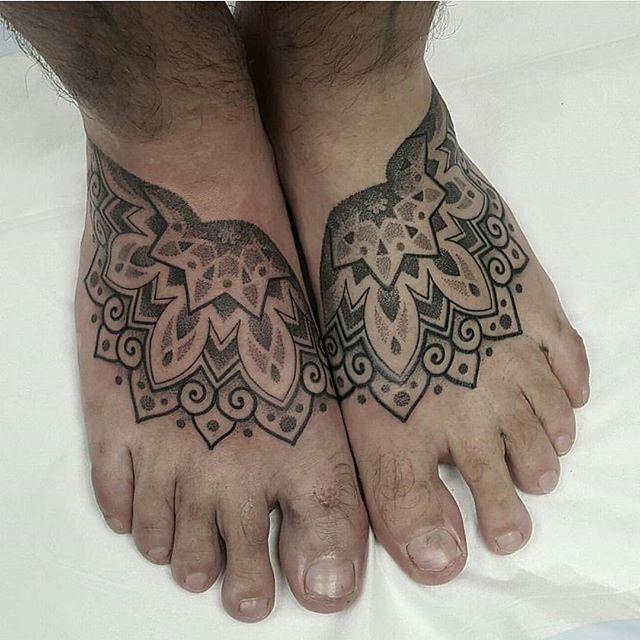 Pin By Claire Gorman On Bodmod Mandala Foot Tattoo Feet Tattoos Tattoos