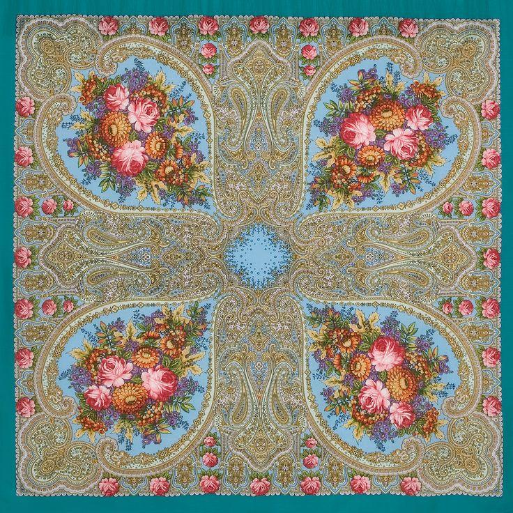 """Платок шерстяной с шелковой бахромой """"Осенние кружева"""", вид 11"""