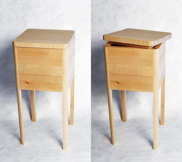 Four quarter round legged birch box.  #box #furniture #furnituredesign #furnituremaker #woodworking #birch #birchtree #birchbox