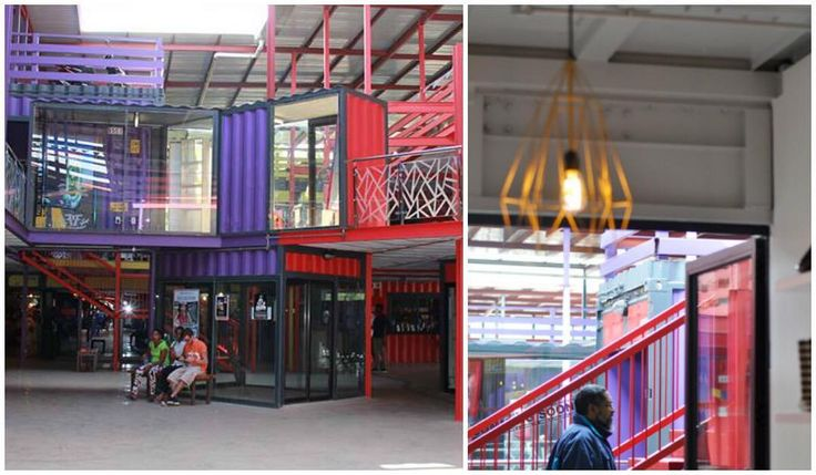 So happy that someone is upcycling out-of-service shipping containers: #retail #visualmerchandising #VM #Joburg
