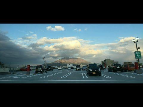 鹿児島市の空 フレスポジャングルパークの屋上駐車場で桜島方向と夕日をタイムラプス Shot by iPhone