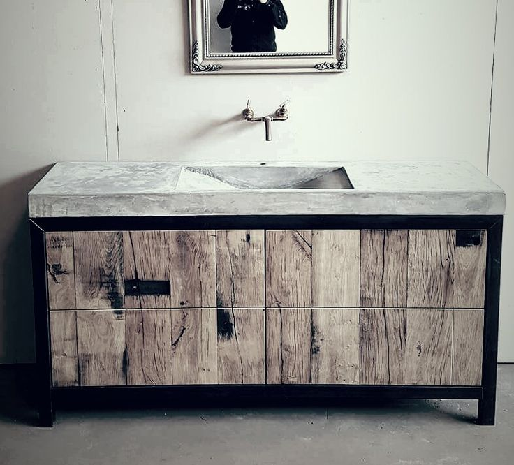 25+ beste ideeën over Betonnen wastafel op Pinterest  Beton badkamer, Wastaf # Cielo Wasbak_004145