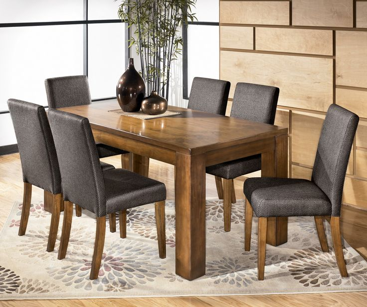 Haulani 7 Piece Rectangular Dining Table Set by Signature Design by Ashley. 24 best Dining Rooms images on Pinterest