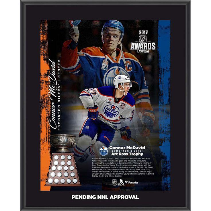 "Connor McDavid Edmonton Oilers Fanatics Authentic 10.5"" x 13"" 2017 Art Ross Trophy Winner Sublimated Plaque"