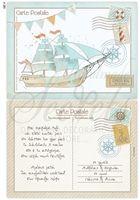 Προβολή λεπτομερειών για το Προσκλητήριο βάπτισης carte postale καράβι