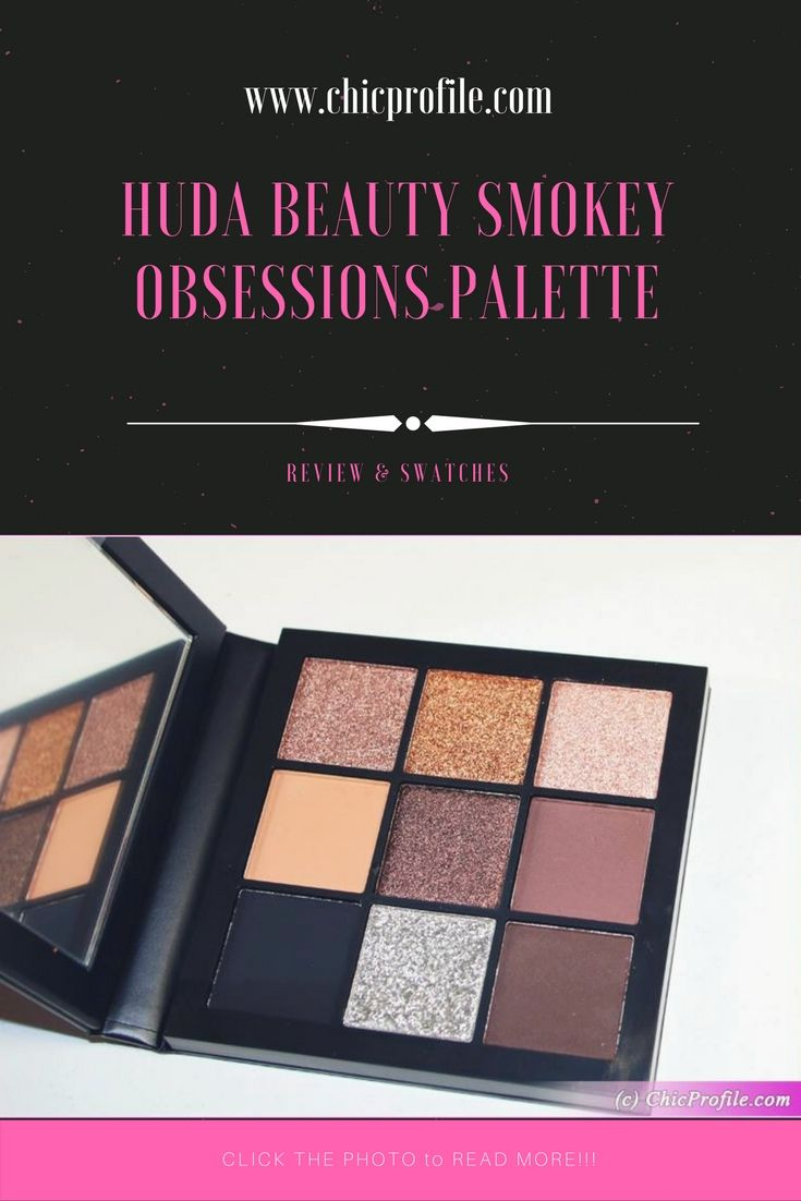 Huda Beauty Smokey Obsessions Eyeshadow Palette ($27.00 / £25.00 for 0.35 oz) is a new and travel size palette featuring 9 eyeshadow colors. via @Chicprofile