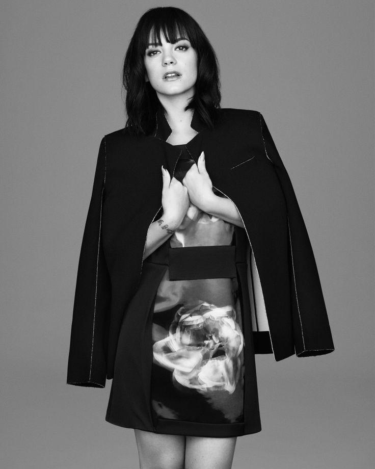 Lily Allen. T by Alexander Wang Blazer. Christopher Kane Dress.