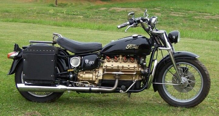 Ford Flathead V8 Motorcycle Wow Manly Stuff