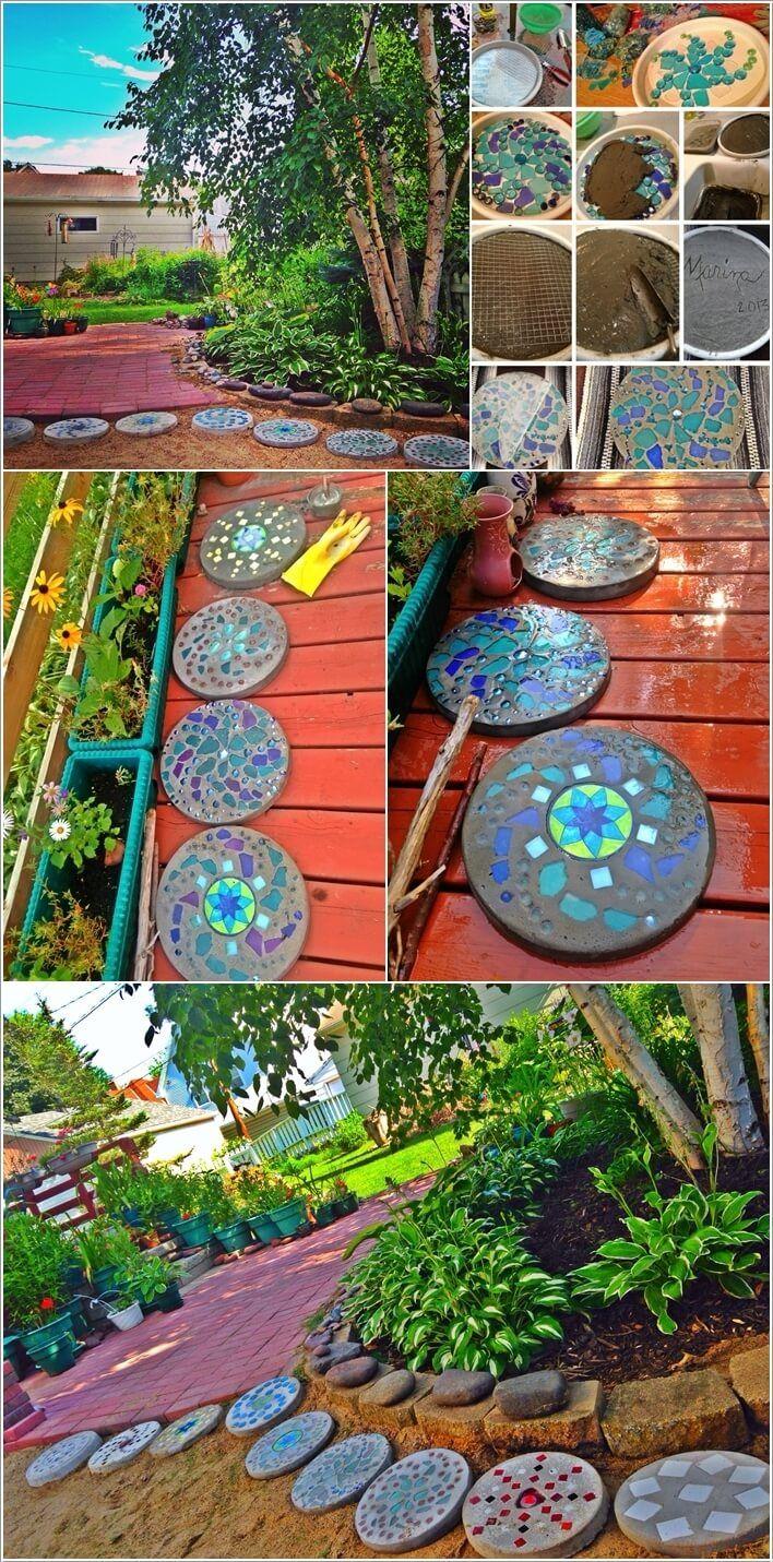 10 Wonderful Diy Stepping Stone Ideas For Your Garden Stepping Stones Diy Diy Garden Furniture Backyard Design Backyard diy stepping stones