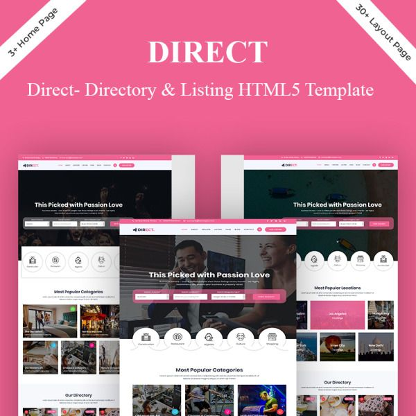 Direct Directory Listing Website Template 83232 Website Template Directory Listing List Website