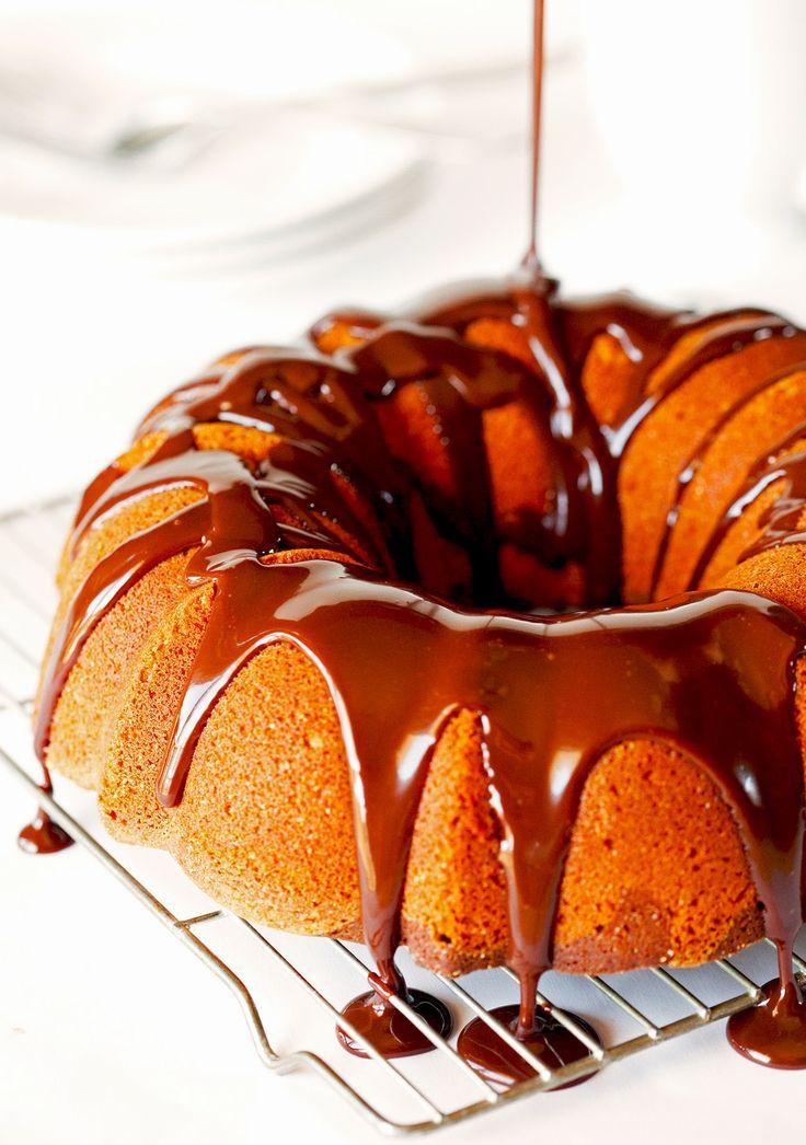 Swirl Bundt Cake with Chocolate Ganache