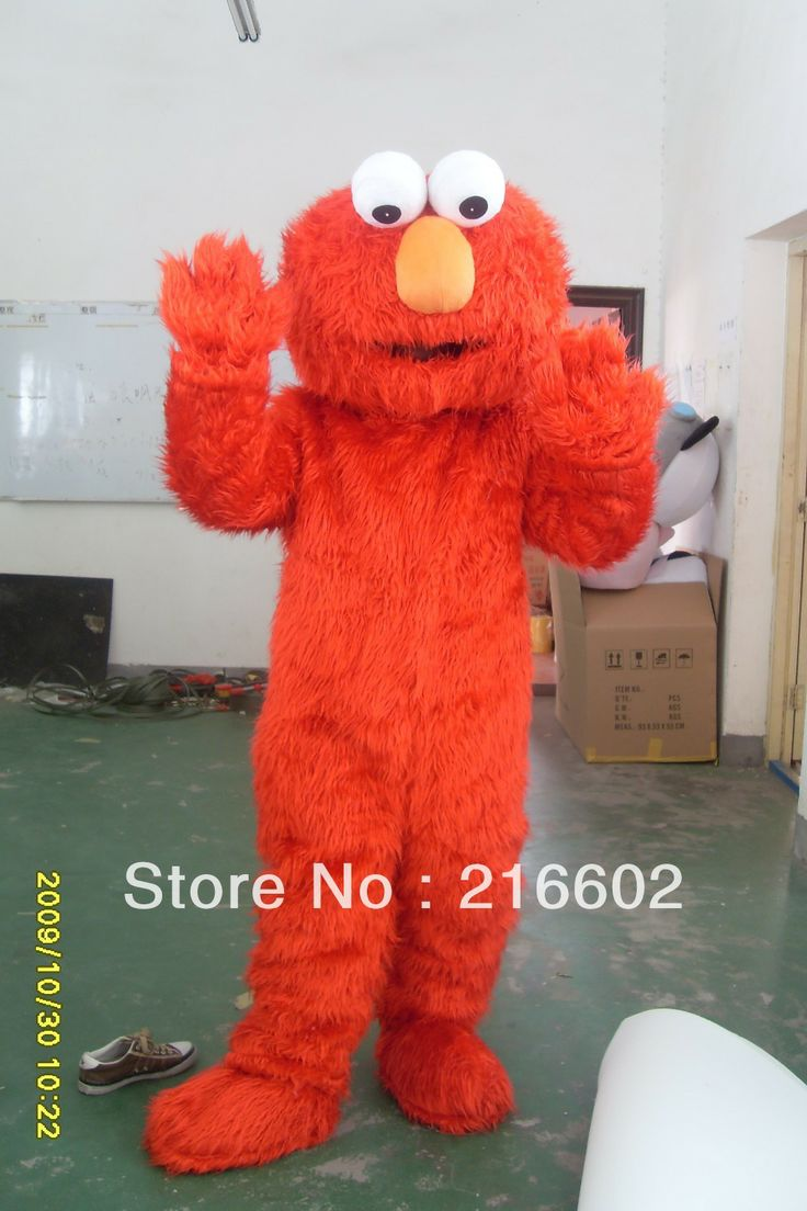 elmo costumes for adults elmo mascot costume elmo mascot adult clothing sales high quality Long Fur Elmo Mascot Costume $65.00