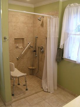 38 best images about handicap bathrooms on pinterest for Handicap accessible bathroom design ideas