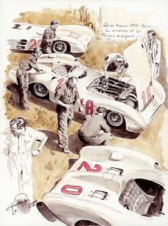 """Silver arrows and mechanics"", Mercedes W196  Reims 1954... (c) Nicolas Cancelierrepros"