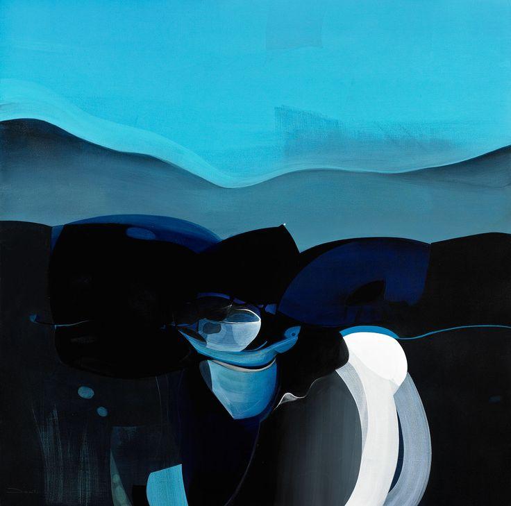 Danilo Rojas - mi mar #danilorojas #danilorojasart #mysignatureOneDot #painter #contemporaryart #artist #art #arte #artecontemporaneo #silence #blue