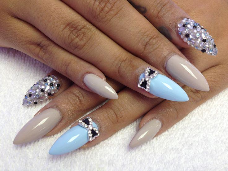 birthday nails ida stiletto