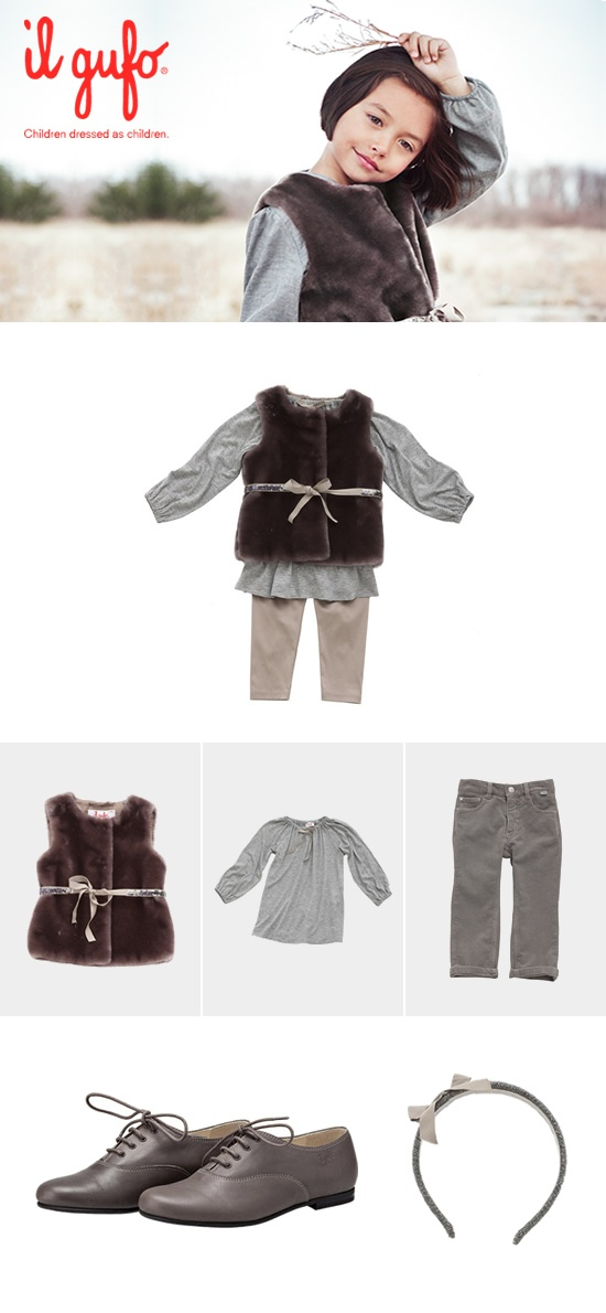 Il Gufo AW 2012-13 #Fashion #children #kids #kidswear #girls #boys #outfit   Create your outfit #ilgufoutfit and become a pinner of this board!  Shop online: http://shop.ilgufo.it/en/fw-collection/girl-2-14-years/looks.html
