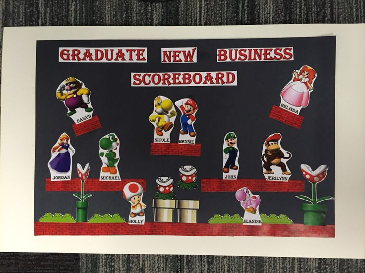 mario bros themed 4dx board