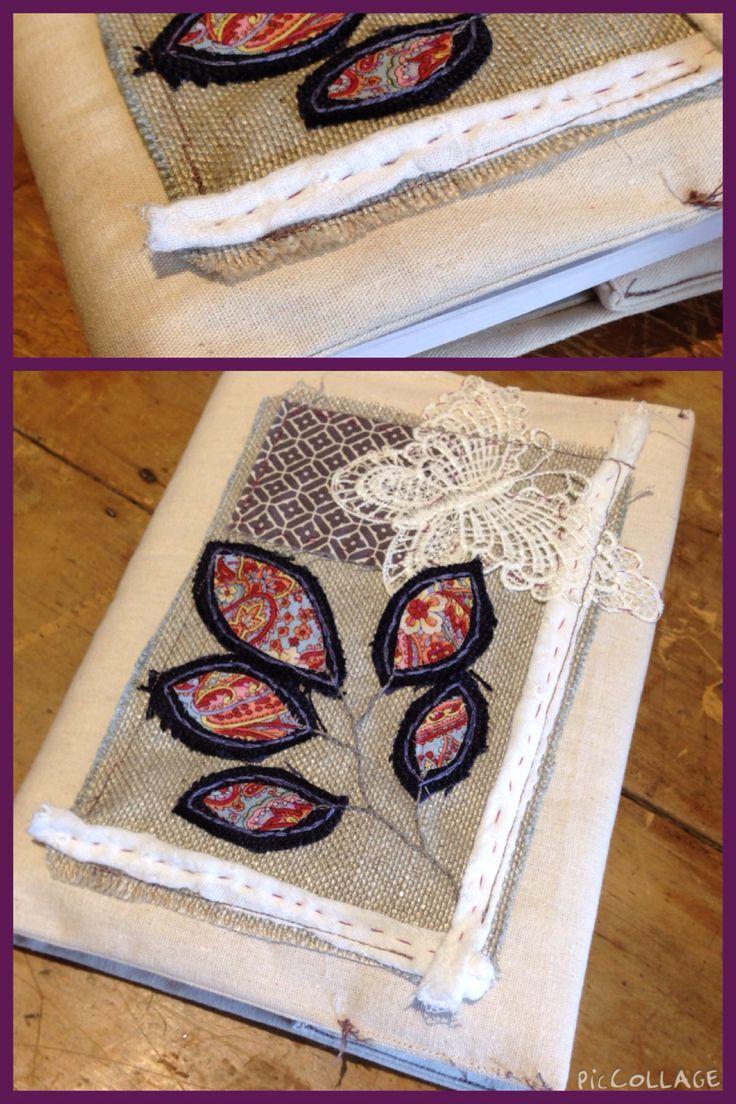 Linen sketchbook cover.