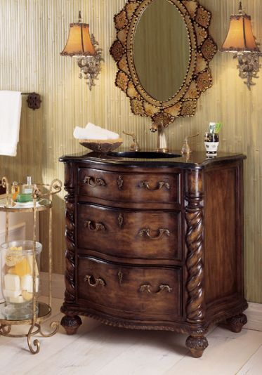 Twist Column Sink Chest By Ambella Home Collection   The Online Furniture  Store