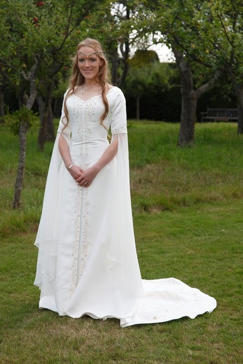 "The dress I would like unless Rivendell Bridal puts out something better of course. It's definitely medieval inspired and church-appropriate without looking too tacky and screaming ""Rennaisance Faire"" too much."
