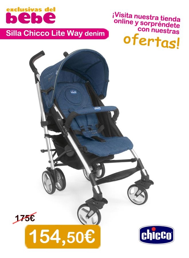 154 50 silla chicco lite way denim entrega 48 h se - Silla chicco liteway 2 ...